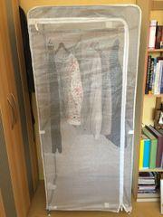 Kleiderschrank, weiß Stoff
