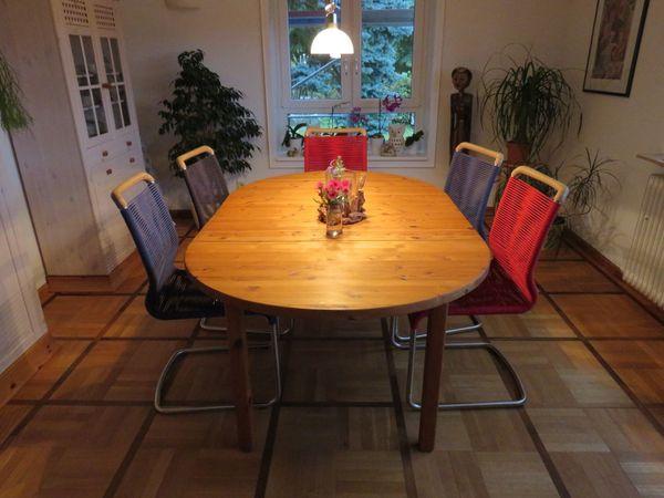 Massiver Holztisch mit 2 Einlegeplatten - Neuenbürg - Der Tisch ist sehr stabil und flexibel.Breite 1,2m x L 1,2m +0,3m + 0,4m Einlegeplaten = Gesamtlänge 1,9mHöhe 74,5cmgepflegter Tisch von Nichtraucherhaushalt durch Umzug abzugeben.Füße können einfach abgeschraubt werden.69freizeitatweb.d - Neuenbürg