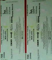 Zvk 2 Tickets Bon Jovi