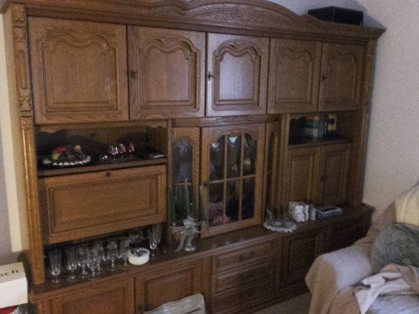 Wohnzimmer Schrankwand Eiche Rustikal In Bühl - Wohnzimmerschränke