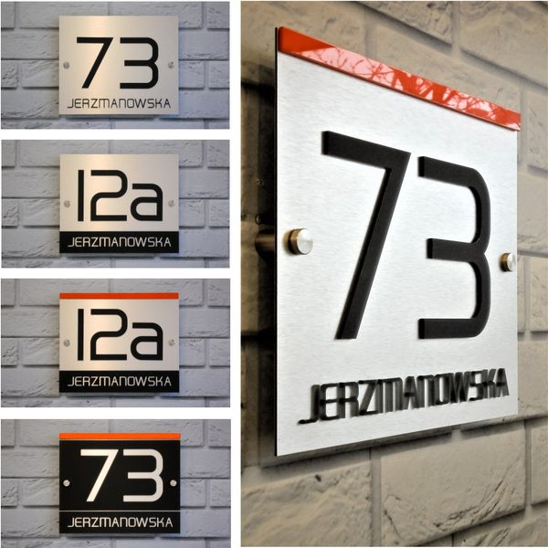 Hausnummer Anthrazit exclusive hausnummer aus di bond und plexiglas anthrazit 30 x 25cm