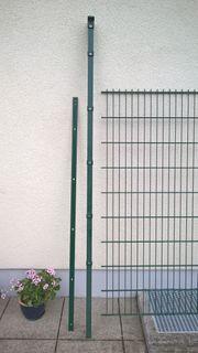Garten-Profilschienenpfahl inkl Abdeckung grün verzinkt