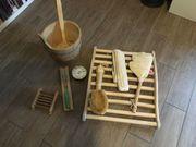 Mehrteiliges SAUNA-Set u a Hygrometer
