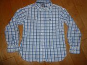 Blaukarietes Langarmhemd Gr 158 von