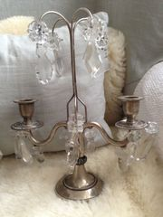 2x Antike Kerzenständer