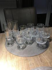 Antike Bleikristall Gläser