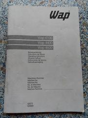 Wap Betriebsanleitung - Bedienungsanleitung für Hochdruckreiniger
