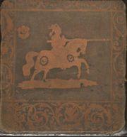 Antikes geätztes Kupferbild