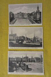 3 Postkarten Ansichtskarten von Leipzig