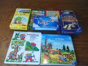 7 neuwertige Kinderspiele und 2