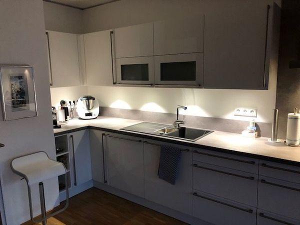 Einbauküche - fast neuwertig - weiss LACK - NEFF / Miele Geräte ...
