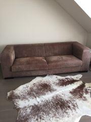 Zweisitzer-Sofa-Wildleder ca 2 35 m