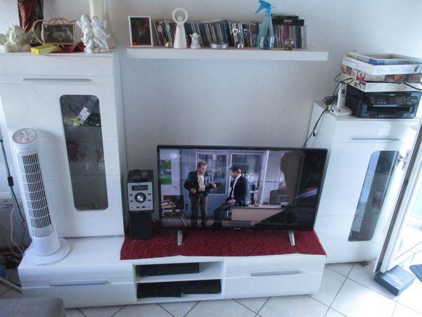 Wohnwand Weiß Hochglanz » Wohnzimmerschränke, Anbauwände