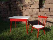 Herlag Kindertisch Kinderstuhl rot weiß