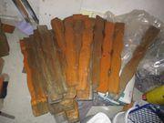 50 Zaun-Latten aus Holz für Balkon