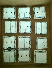 10 Wipp-Jalousieschalter 1 Lichtschalter und