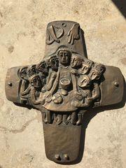 christliches Kreuz Kruzifix aus Bronze