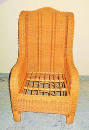 Rattan-Sessel mit