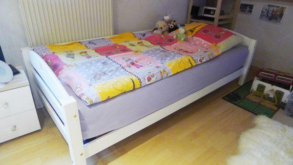 Jugendbett 80 X 200m Weiss Holz Mit Lattenrost In Monsheim Kinder
