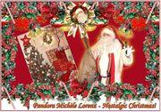 Nostalgische Weihnachtsdekorationen antike Weihnachts-Lounge Mieten