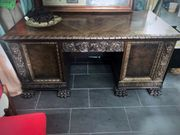 Antiker Schreibtisch Herrenzimmer mit Löwentatzen