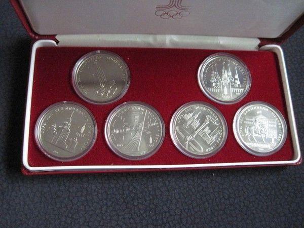 Münzen 6 X 1 Rubel 1980 Olympiade Moskau Udssr Cccp Olympische