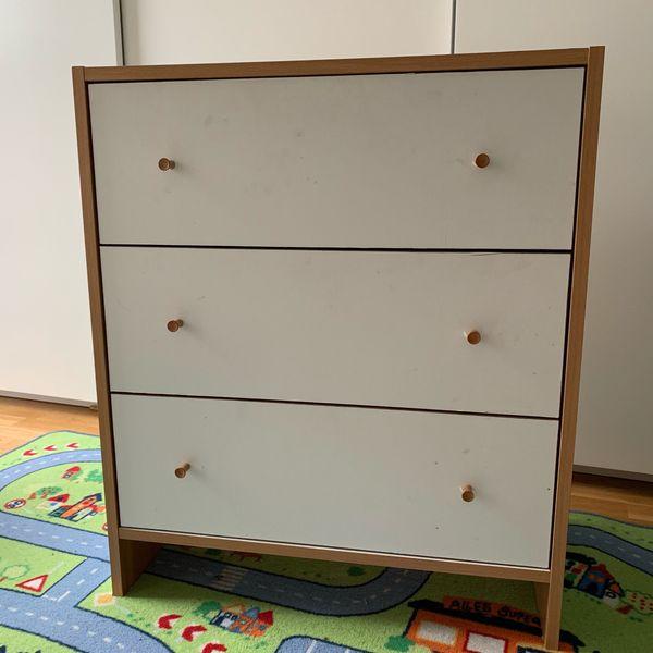 Kleine Kommode Weiss Oder Blau Mit 3 Schubladen In Karlsruhe Ikea