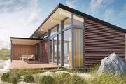 Moderne Lodges auf