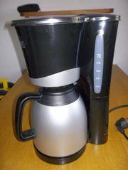 KHG Kaffeemaschine Kaffeeautomat schwarz silber