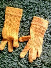 Strickhandschuhe dünn gelb NEU für