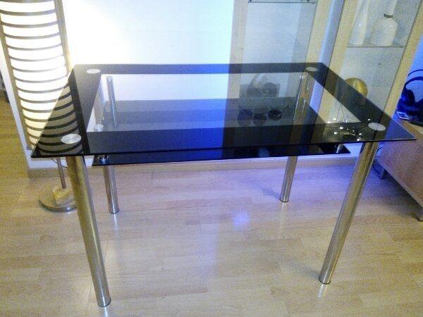 Küchentisch, Glas/Chrom, 110x70 cm in Regensburg - Speisezimmer ...