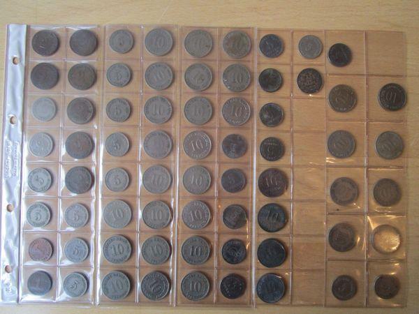 69 Münzen Kleinmünzen Kaiserreich Unterschiedliche Erhaltungsgrade