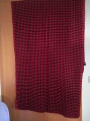 Schal rot schwarz kariert