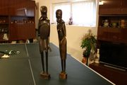 ZWEI hübsche AFRIKA- Negerfiguren - aus EBENHOLZ