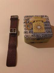 Fossil Uhr mit Case Lederarmband
