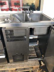 Hagola Kühltresen mit 2 Spülbecken