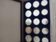 15 Silbermünzen Olympiade Sarajewo PP
