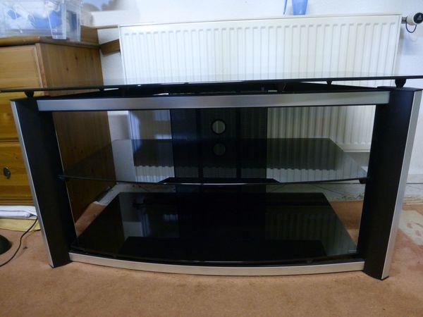 Tv Tisch Schwarz Glas In Harthausen Phono Tv Videomöbel Kaufen