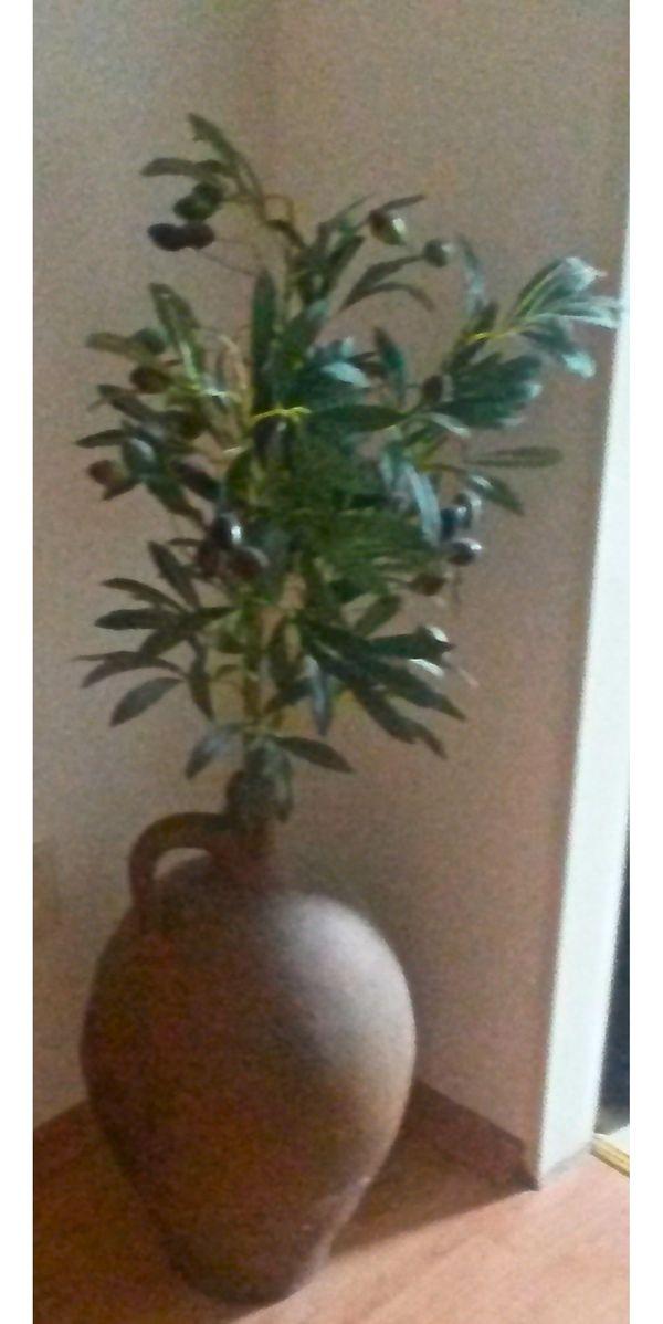 Antike Amphore mit Olivenzweig