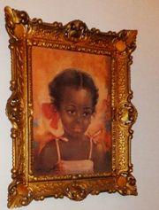 Ölbild mit kleinem Mädchen