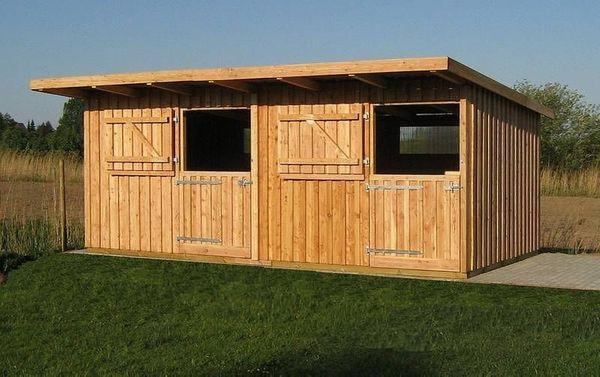 Außenbox Weidehütte Offenstall aus Lärchenholz