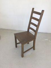 Holzstühle von Ikea graubraun 4