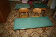 Schulbänke und Schulstühle Grundschule 60er