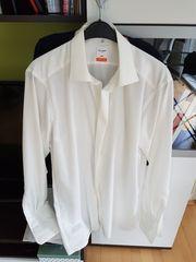 Olymp weißes Manschettenhemd Hochzeitshemd Gr