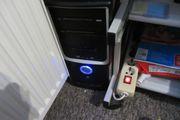 komplett Set PC-Monitor-Lautsprecher-PC Tisch