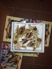 Weihnachtsbaumzapfen /gold 4x