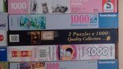 Puzzles versch. 1000