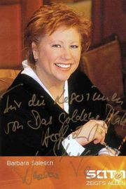 Fernsehrichterin BARBARA SALESCH Widmung Autogramm