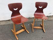 2x Kinderstühle aus Holz Schule