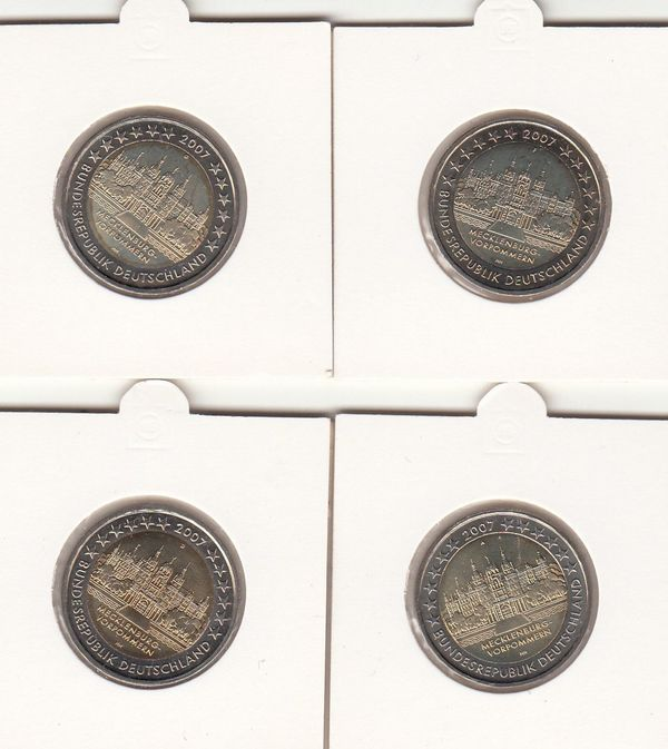 2 Euro Gedenkmünzen 2007 Mecklenburg Vorpommern Adfg In Alzey
